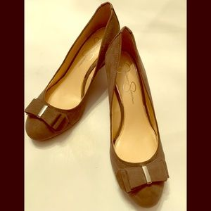 Jessica Simpson Suede Wedge Shoes